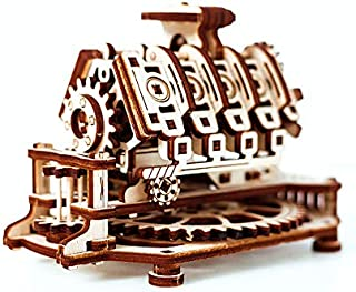 Wooden.City V8 Engine Mechanical Model Kit 14 x 10 x 10.7 cm.