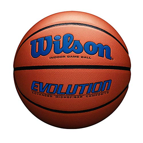 Best Buy! Wilson Evolution Game Basketball, Royal, Official Size - 29.5