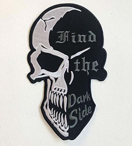 """Preisvergleich Produktbild Aufnäher""""Find the Dark Side Totenkopf"""" / Bikerjacke,  bestickt"""