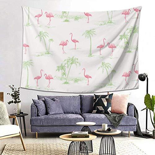 GFHUTGD CGNGFNG Tapiz de pared con estampado de flamencos rosa para colgar en la pared para dormitorio, sala de estar, dormitorio, decoración de dormitorio universitario, (203 x 152 cm)