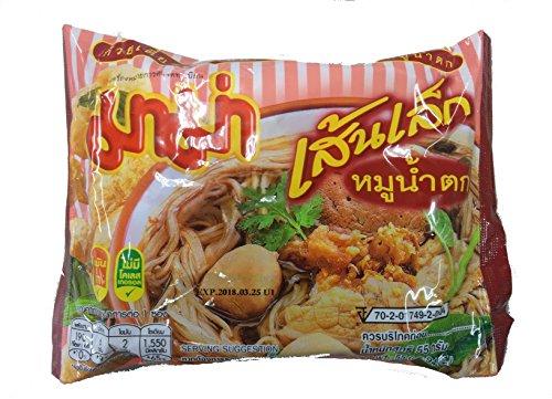 センレック— ムー ナームトック ( 米粉麺 2�o麺 55g×30袋入) <ムー ナームトックスープ> SEN LEK MOO NAM TOK タイ 袋ラーメン