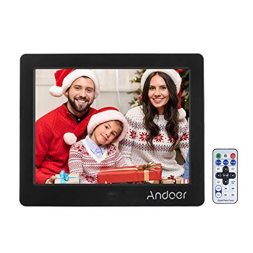 Andoer® 15 \'\' HD TFT-LCD 1024 * 768 Digitale Bilderrahmen Wecker MP3 / MP4 Player mit Remote Desktop