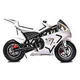 Fit Right 2020 Mini Gas Pocket Bike 03 On 40cc 4 Stroke, Support Up to 165 lbs, EPA Approved, Perfect Mini Pocket Bike for Kids- Ultra Edition (White) (White)