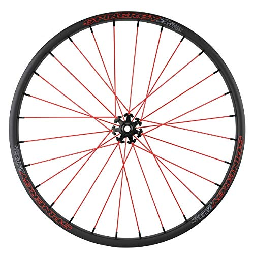 """SPINERGY Mountain Front Bicycle Wheel, LX 29"""", Patented PBO Fiber Spokes, Tubeless Ready, Strong, Light, Racers, Riders, MTB, Racing, Cross Country, Trail, Water, UV & Impact Proof, Chemical Resistant"""