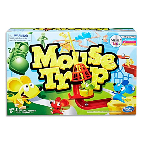 Mouse Trap - Reviewed by Mensa for Kids - Practice Skills in Construction, Cause, Effect, Decision-Making - 2 to 4 Players - Educational Kids Board Games and Toys for Kids - Boys and Girls - Ages 6+