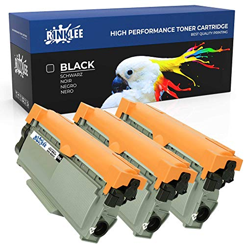 RINKLEE 593-BBLH 593-BBKD Toner Cartridge Compatible with Dell E310dw E314dw E515dn E515dw | High Yield 2600 Pages | Black, 3-Pack