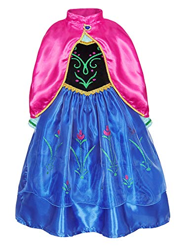 AmzBarley Niña Princesa Disfraz Traje Fiesta de Cosplay Vestido (Girls Princess Fancy Dress) Carnaval Cosplay Halloween Fancy Dress Up Costume