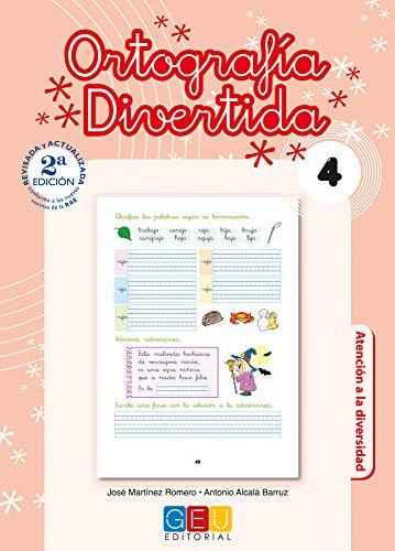 Ortografía divertida 4 / Editorial GEU / 2º Primaria / Mejora la ortografía / Recomendado como apoyo / Con actividades sencillas de repaso