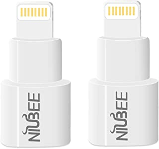 NIUBEE Dock Extender Adapter Compatible with Lifeproof Otterbox Case, Male to Female Dock Extension Connector Compatible with iPhone X / 8/7 / 6s / Plus and More- White
