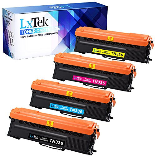 LxTek Compatible Toner Cartridge Replacement for Brother TN336 TN336BK (4 Pack) for Brother Laser HL-L8350CDW MFC-L8850CDW MFC-L8600CDW HL-L8250CDN HL-L8350CDWT,(1 Black|1 Cyan|1 Magenta|1 Yellow)