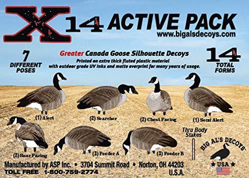 X14 Greater Canada Goose Silhouette Decoys-Thru Body Stake