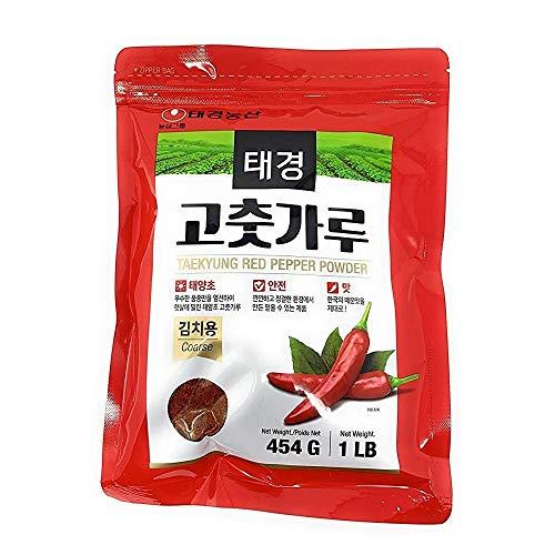 Korean Red Chili Pepper Flakes Powder Gochugaru (1 Lb) By Tae-kyung