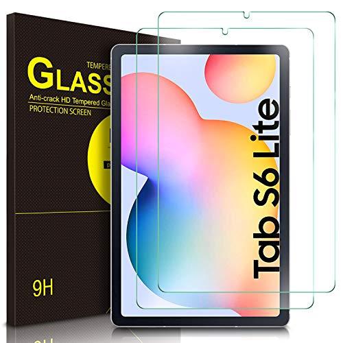 ELTD Bildschirmschutzfür Samsung Galaxy Tab S6 Lite, Ro&ed Corners 2.5D, 9H Festigkeit, gehärtetes Bildschirmfolie Schutzglas für Samsung Galaxy Tab S6 Lite 10,4 Zoll (2 Stück)