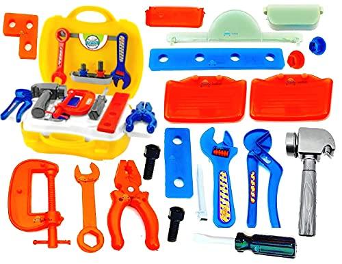 FunBlast Plastic Construction Tools Kit Toys for Kids (Multicolour) – Set of 22 Pieces, Multi color