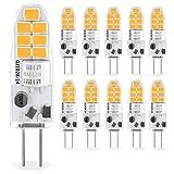 Bombilla LED G4 2W, Blanco Cálido 3000K, G4 LED Calido Equivalente Lámpara Halógena de 10W 20W, 12V AC/DC, Ángulo de Luz de 360°, Sin Parpadeo, 4, No Regulable, 10 Unidades
