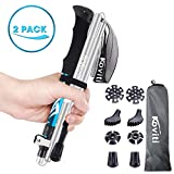 Koviti Trekking Poles - Collapsible Hiking Poles 2pc Pack, Strong Lightweight Walking Sticks with 8 Season...