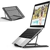 MONEY Soporte de Portátil Ergonomic Ventilado Acero Inoxidable Adjustable Laptop Stand para Macbook DELL XPS HP Negro