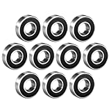 sourcing map 6001-2RS Ball Bearing 12mm x 28mm x 8mm Double Sealed 180101