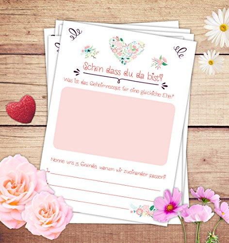 Hochzeitspiel: 52 Postkarten mit spannenden Fragen für Gäste und das Brautpaar - 4