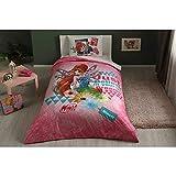 Winx Bloom Fairytale% 100cotone prodotto con licenza set da letto copripiumino matrimoniale copripiumino, lenzuolo federa
