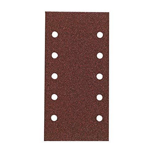 Hitachi–753069Raumfahrt-Schleifblätter 115x 230mm Körnung 320Schleifpapier mit Klettverschluss (10Stück)