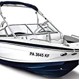 1060 Graphics 3' x 22' Boat Registration Numbers - Custom Made in Any Style, Text, Color, and Decal Size