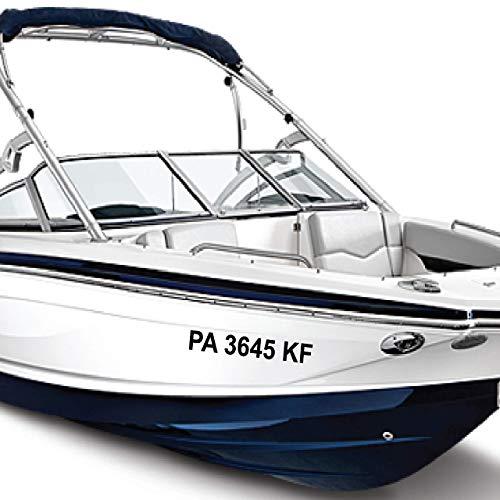 "1060 Graphics 3"" x 22"" Boat Registration Numbers - Custom Marine Vinyl Sticker Decals"