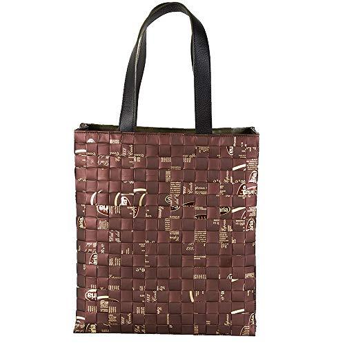 Meraky Tote Bag Arabica - Bolso hecho a mano en Italia. Marrón Size: Talla única