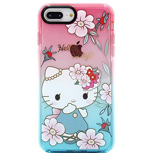 MC Fashion iPhone 7 Plus, iPhone 8 Plus Hülle, Cute Cartoon Hello Kitty Transparent Hülle, Full Body Slim Fit Schutzhülle Soft TPU Hülle für Apple iPhone 7+/8+ 5,5 Zoll