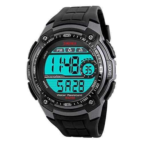 Orologi sportivi da esterno per uomo Cronografo Shock impermeabile Orologio da polso digitale Orologio da uomo Orologio da uomo Relogio Masculino 1203