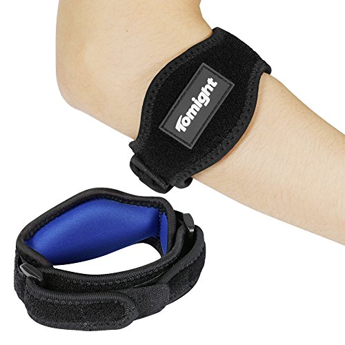 Tomight [2 Pack] Elbow Brace, Tennis Elbow Brace with Compression Pad for Both Men and Women, Dark Blue