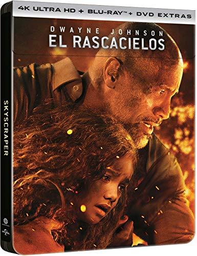 Skyscraper: El Rascacielos - Edición Metálica Exclusiva Amazon (4K UHD + BD + DVDs Extras) [Blu-ray]