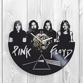 Pink Floyd, Vinyl Clock, Wall Decor, Handmade Gift, Modern Art, Rick Wright, George Waters, Nick Mason, Syd Barrett, Guitar, Drums, Rock Music, Gift Ideas, Band, Wall Art, Home Decor, Vinyl Record