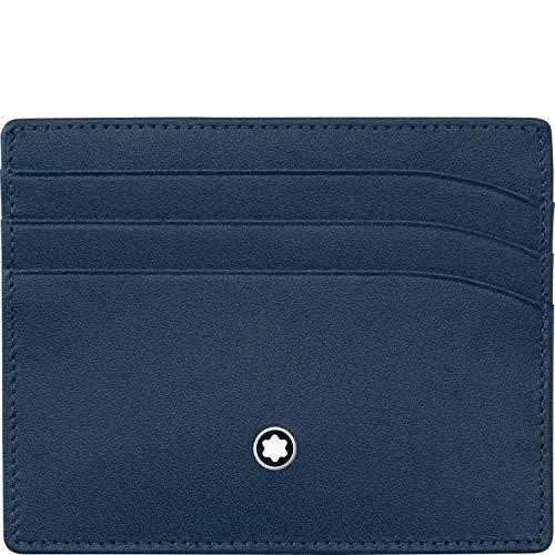 Montblanc Meisterstück–Estuche para Tarjetas de Visita MST Pocket 6CC Marina Tarjeta de Visita móvil, Color Azul Marino