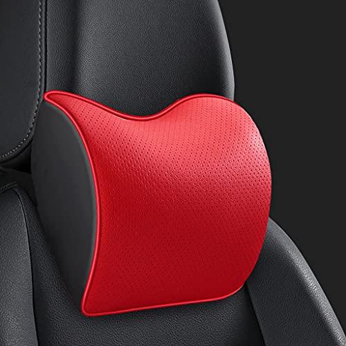 Reposacabezas de espuma viscoelástica para automóvil, almohada para el cuello de la columna cervical del asiento de automóvil, cojín para el cuello y el cuello del automóvil, almohada para dormir en