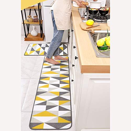 FEIYING Haushaltslange Nylon-Küchenfußmatten, Personalisierte Verschleißfeste Und Abriebfeste Saugfähige rutschfeste Matten(Color:B,Size:50 * 120)
