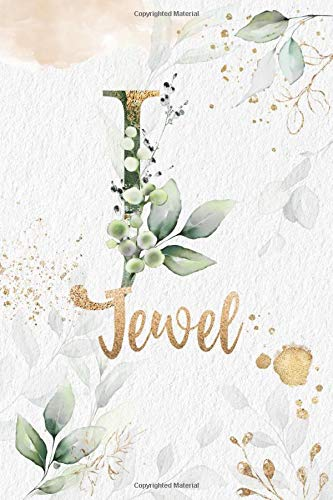 Jewel: Personalized Undated Planner Notebooks / Journals with Name and Monogram for Girls and Women to Write In. Perfect Gifts for Her as a Personal ... Notebook with Premium Gold Lettering.