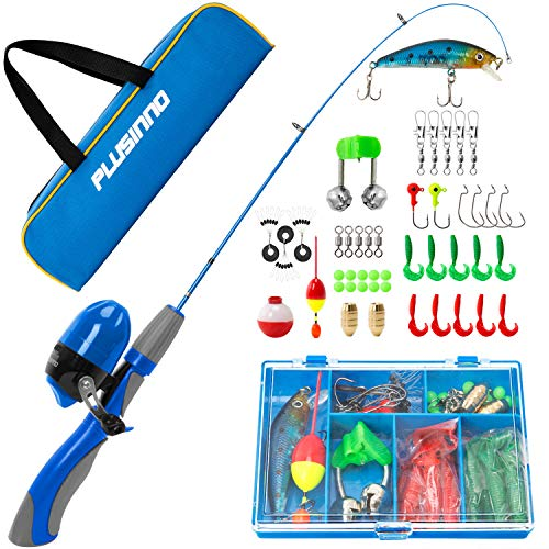 PLUSINNO Kids Fishing Pole,Portable...