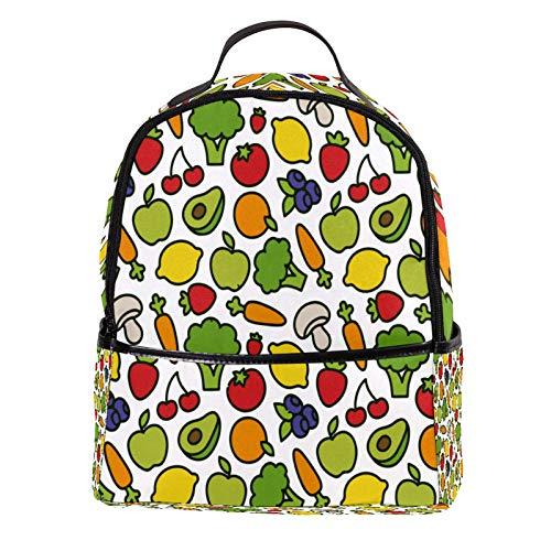 AITAI - Mochila de piel sintética para hombre y mujer, diseño de frutas y verduras