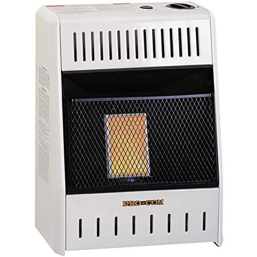 ProCom Heating INC ML060HPA 6,000 BTU Liquid Propane Gas Infrared Wall Heater, White