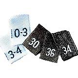 Größenetiketten für Kleidung (250 Stück)