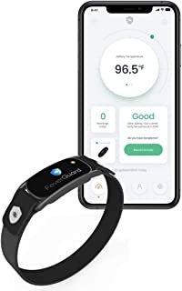 FeverGuard Wearable Smart Thermometer Arm Band with Real-Time Temperature Monitor App, Temperature-Tracker with Alert Notifications