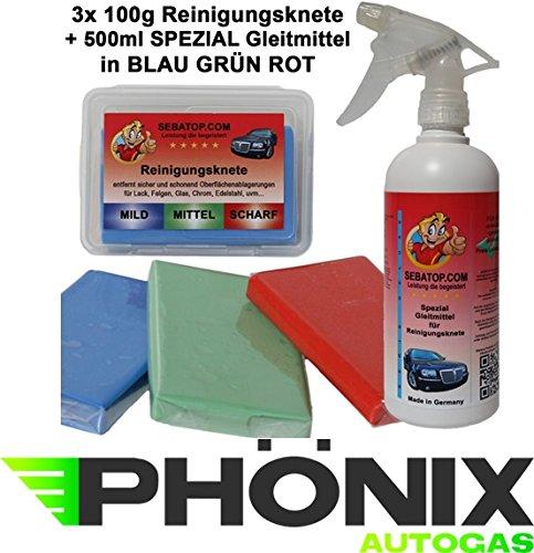 SEBA Top Pâte de nettoyage Set 3 x 100 g avec Boîte de rangement et lubrifiant spécial