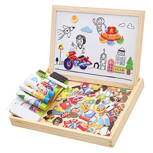 Glomixs Wooden Kids Educational Magnetic Board Puzzle Toy, Educational...
