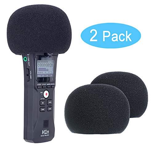Youshares Copertura antivento in schiuma per registratore Zoom H1n e H1 portatili (2 pezzi)