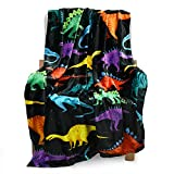 BOOPBEEP Cute Dinosaurs Throw Blanket & Dinosaur Soft Throw Blankets for Kids, Girl, Boys- 40x50 Inch Colorful Dinosaur Blanket is Suitable for Sofa Living Room Bedroom & Gift for Family
