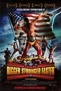 Bigger Stronger Fasterポスター27x 40Hulk Hogan Barry Bondsカール・ルイス Unframed 411118