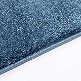 Taracarpet Kurzflor-Designer Uni Teppich extra weich fürs Wohnzimmer, Schlafzimmer, Esszimmer oder Kinderzimmer Gala dunkel-blau 120x170 cm - 6