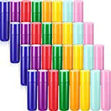 32 Pieces 5ml Empty Lip Gloss Tubes Refillable Lip Gloss Bottles Rotatable Lip Balm Container Tubes Plastic Lipstick Tube DIY Lip Gloss Balm Tube Holder for DIY Lipstick Cosmetic Samples, 8 Colors