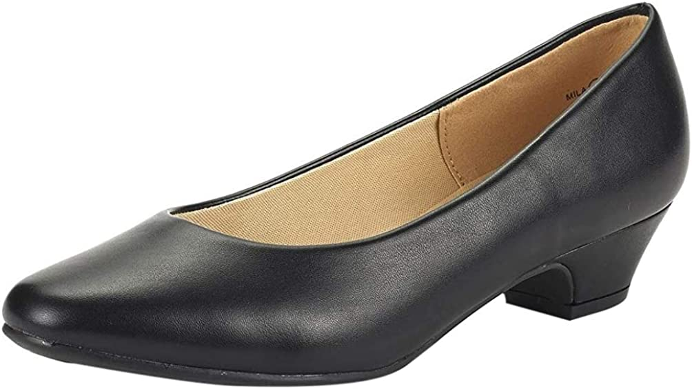 DREAM NEW ARRIVAL PAIRS Women's 大人気! Mila Low Chunky Pump Shoes Heel